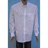 Белая классическая рубашка с длинным рукавом, фото 2