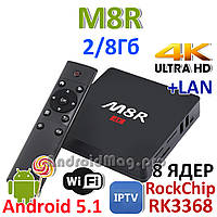 M8R Android TV Box 8 ядер Rockchip RK3368 2GB ОЗУ