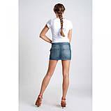 27/S Короткая джинсовая юбка с кармашком d cbytv wdtnt, фото 5