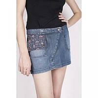 Короткая джинсовая юбка с кармашком Сover РАСПРОДАЖА!