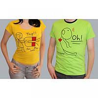 "Парная футболка мужская из хлопка ""Love Story"""
