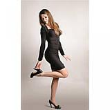 46-48/ Элегантное  трикотажное платье со сборками серое весна, фото 3