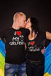 Чоловіча футболка I Love My Girlfrien черна, фото 3