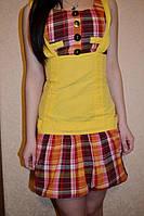 Хорошенькое двухцветное платье - сарафан для девочки