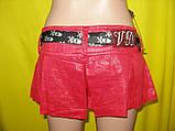 М/44-46  Красные юбка-шорты из льна с поясом, фото 2