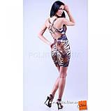 S/42 Облегающее мини платье анималистической расцветки SALE!, фото 2