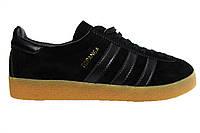 Мужские кроссовки Adidas Hamburg, замшевые, черные, Р. 42 43 44