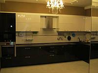 Кухня белый и венге глянец, фото 1