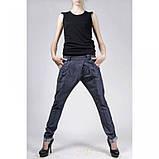 Хлопковые брюки Technology синий джинс лето  , фото 2