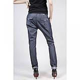 Хлопковые брюки Technology синий джинс лето  , фото 3