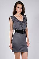 Radioactive  стильное платье, трикотаж серый