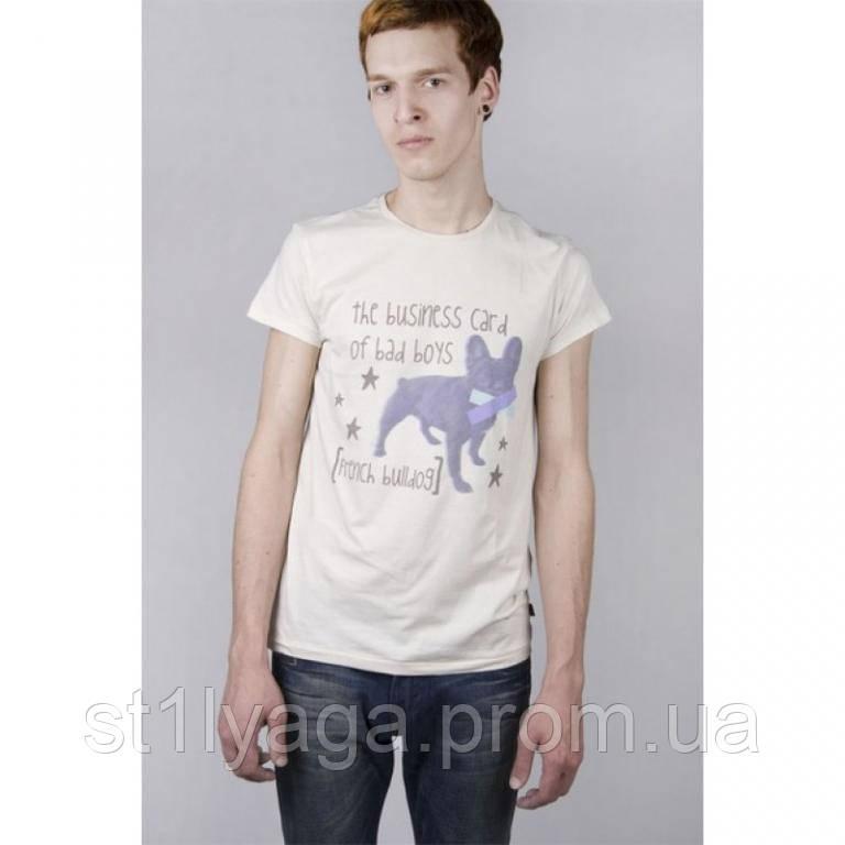 French Bulldog футболка из хлопка  мужская