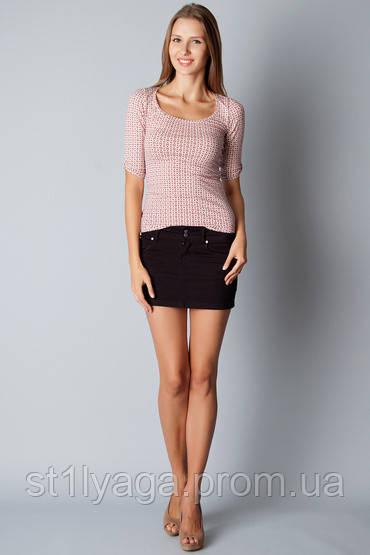 46/М Короткая юбка  джинс  черная