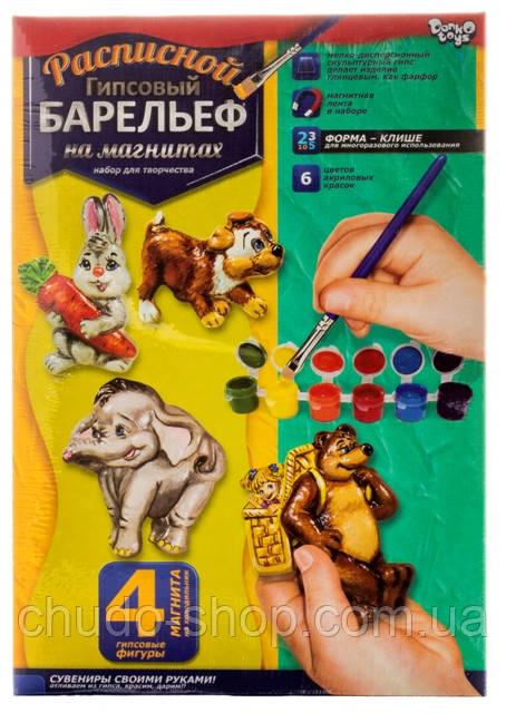 Расписной гипсовый барельеф, Слон, РГБ-02-09