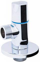 """Кран приладовий кульовий кутовий (круглий) з керамічної буксой SD Forte 1/2""""х1/2"""""""