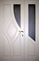 Двери полуторные из дерева