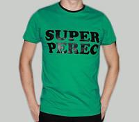Футболка с прикольной надписью SUPER PEREC