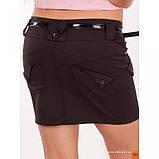 Мини юбка черная с карманами и ремешком в комплекте, фото 4