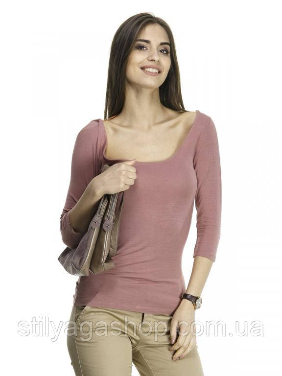 Топ - футболка  пастельно-розового цвета РАСПРОДАЖА!