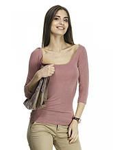 Топ - футболка  пастельно-розового цвета