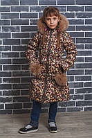 Пальто для девочки зима Бабочки