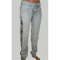 Джинсы - брюки из хлопка голубые лето