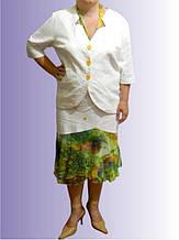 Жакет женский  льняной с рукавами три четверти ВЕСНА- ЛЕТО