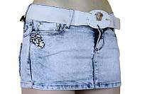 Мини юбка джинсовая   VERSACE голубая