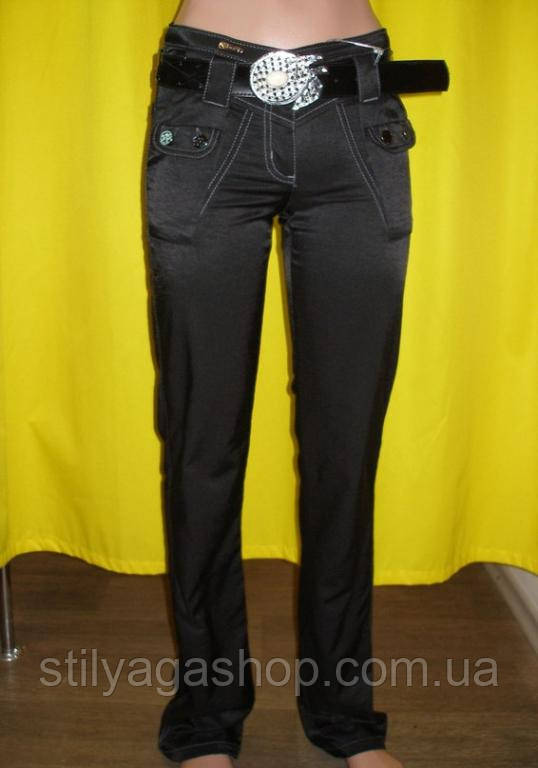 Жіночі брюки чорні c ременем в комплекті SALE!