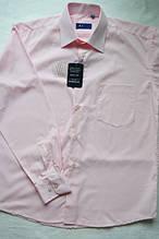 Мужская сорочка розовая длинный рукав