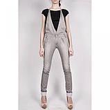 Стильный джинсовый комбинезон в сером цвете, фото 2