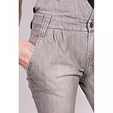 Стильный джинсовый комбинезон в сером цвете, фото 3