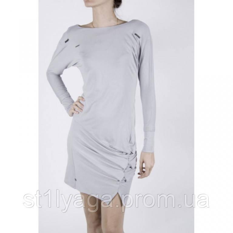 44/S Soul платье трикотажное с рукавом реглан светло-серое