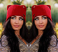 """Стильная женская шапка """" Ушки """" Yulia, фото 1"""
