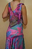 Платье и з шифона BRIZZ малина-бирюза  ЛЕТО, фото 4