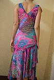 Платье и з шифона BRIZZ малина-бирюза  ЛЕТО, фото 5