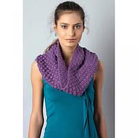 Extract шарф-хомут снуд вязанный фиолетовый
