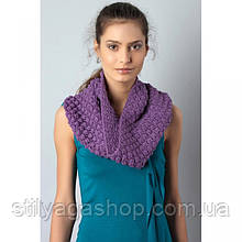 Extract шарф-хомут снуд фіолетовий плетений
