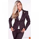 42/S Пиджак черный с  длинным регулируемым  рукавом, фото 4