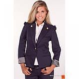 42/S Пиджак черный с  длинным регулируемым  рукавом, фото 5