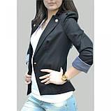 42/S Пиджак черный с  длинным регулируемым  рукавом, фото 2