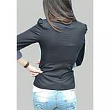 42/S Пиджак черный с  длинным регулируемым  рукавом, фото 3