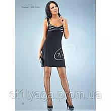 Трикотажный платье-сарафан черный