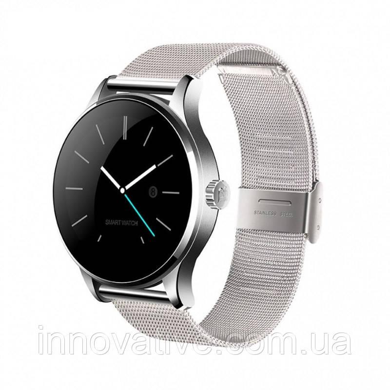 98d899cd523e Умные часы Smart watch Lemfo K88H с пульсометром (Серебристый) - Bigl.ua