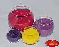 Ваза шар для насыпной свечи, флористики - 160х190 мм