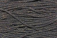 Шнур акрил 6мм.(100м) черный+золото, фото 1