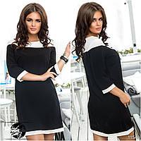 Женское прямокройное короткое платье мини