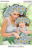 Схема для вышивки бисером Мама с ребенком