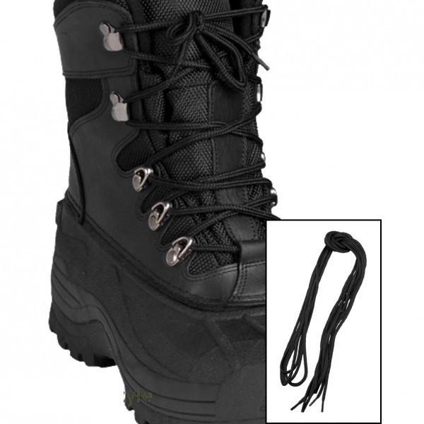 Шнурки 220см чёрные MilTec 12912402