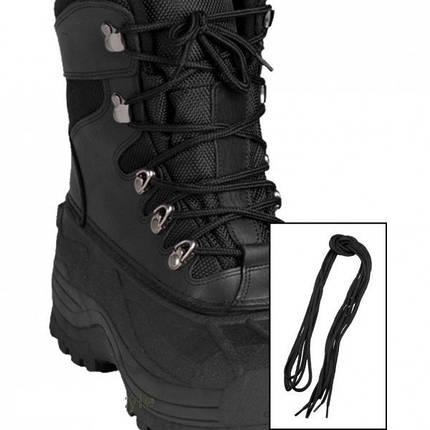 Шнурки 180см чёрные MilTec 12912302, фото 2